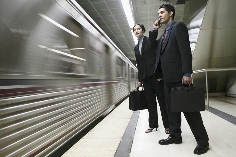 Man and Woman at the Metro